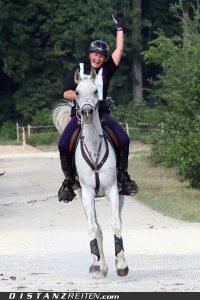 Ursula Klingbeil mit El Wa Ha Kimja, Deutsche Meisterschaft im Distanzreiten Dillingen 2010, Foto: Christian Lüke