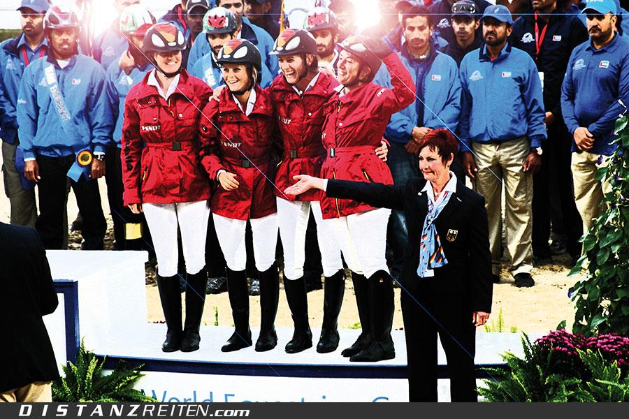 Die erfolgreichen Mädels vom deutschen Team in Kentucky, Foto: Merri Melde