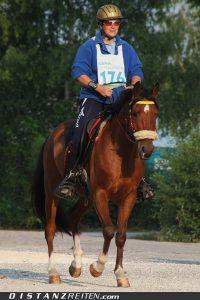 Ulrike Pottrick mit My Magic El Bailado, CEI* 90 km Dillingen 2010, Foto: Christian Lüke