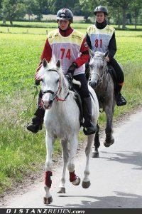 DJM Luhmühlen 2012: Silber bei den Junioren für Sabrina Birmele mit Eurazia du Vallois und Bronze für Jule Röhm mit Lepperedu. Foto: Christian Lüke