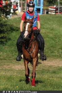 Jugend-Europameisterschaft Mont le Soie 2012: Clara Haug mit Ainhoa Fauntina. Foto: Victoria Oldenburg