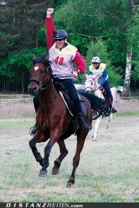 Regina Winiarski mit Santana, Deutsche Meisterschaft im Distanzreiten Luhmühlen 2012, Foto: Christian Lüke