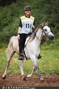 Gold für Astrid Götz mit Jarid, Deutsche Meisterschaft im Distanzreiten Kreuth 2006